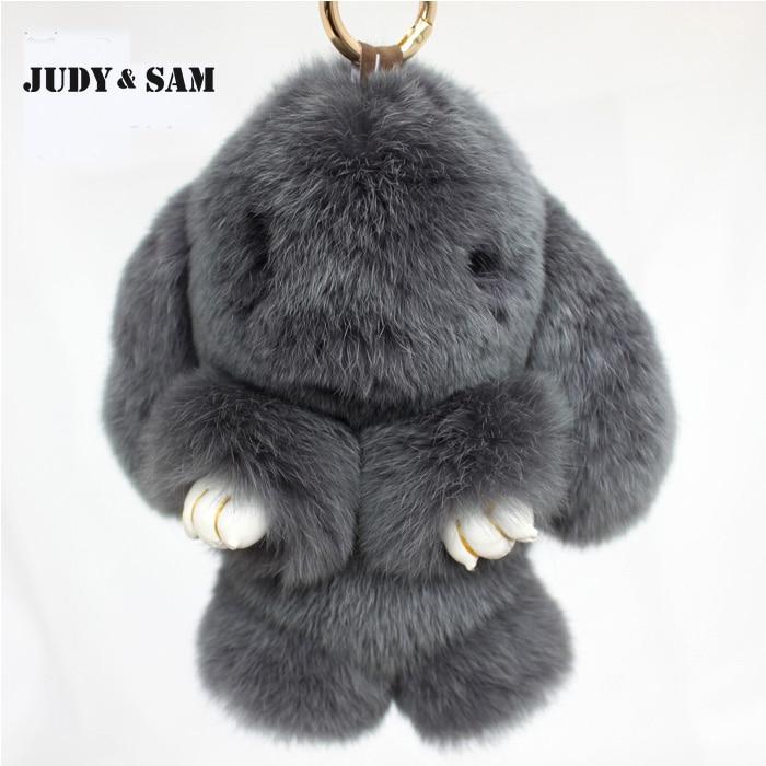 Rex Rabbit Fur keychain Cute Rabbit Doll Key Chain Pendant White/Pink/Black Wallet Pom Pom for Bag Charm Car keychain<br><br>Aliexpress