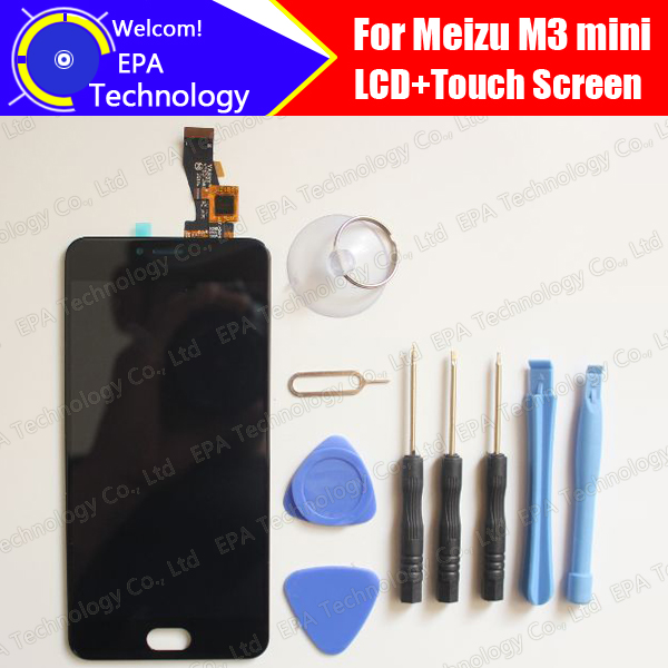 Meizu M3 Mini LCD Display+Touch Screen 100% Original New Tested Digitizer Glass Panel Replacement For M3 Mini Meilan 3+Tools<br><br>Aliexpress