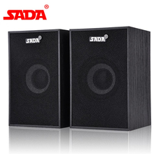 SADA 2 Types Portable Wooden V-160 Desktop Computer Speaker Mini Notebook Subwoofer Laptop Multimedia Speakers