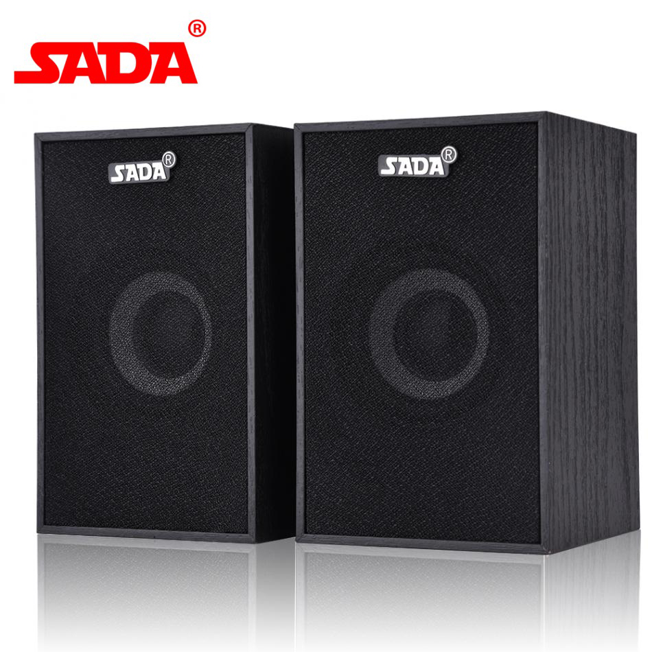 SADA 2 Types Portable Wooden V 160 Desktop Computer Speaker Mini Notebook  Subwoofer Laptop Multimedia Speakers