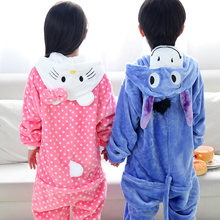 Children pajamas girls Hello Kitty baby boys clothes blue donkey winter nightgown pyjamas kids animal pijamas infantil STR14