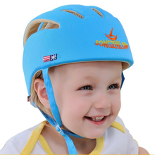 2017 Baby Toddler Safety Helmet Headguard Cap Adjustable Hat No Bumps Kids Walk Learning Helmets Protective Hat Gear Cap XT