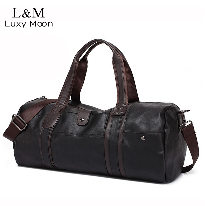 Fashion Men Leather Travel Bag Large Capacity Duffle Handbag Famous Brand Quality Luggage Messenger sac a main bolsa XA386H<br>