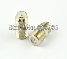 (100pcs/lot) F Female jack to Female jack Coaxial Barrel Coupler adapter connector Coax Cable RG6 F81 3GHz Free shipping
