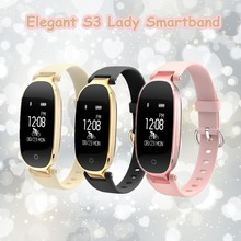 New S3 Lady Women Smart Wristband Heart Rate Monitor Girl Smart Band Bracelet Fitness Activity Female Smartwatch for Android iOS(China)