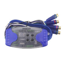 Universal Car Stereo Audio Speaker Converter Wire to 4 RCA Hi/Lo Audio Line Level Adaptor High/Low(China)