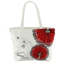 2017 New Model fashion Handbags Ladies With Canvas Red Dandelion Pattern Girls japan Shopping ladies hand bags #EY(China)