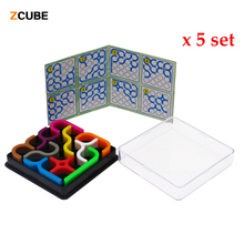 Zcube 5 Sets /Lot New IQ link Puzzles Tetris Toys Child Jigsaw 3D Intelligence Puzzle Children Learning & Educational Toys -48