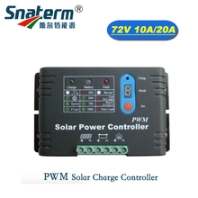 DC 72V Intelligent PWM Solar Charge Controller 72v10a/20a Solar Panel Regulator for Electric vehicle lead acid battery