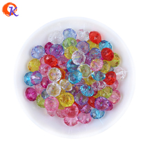 Free Shipping 12MM 780Pcs/Lot Mix Colors Acrylic Clear Carriage Wheel Flat Bead For Handmade DIY Jewelry Accessories CDWB-517988(China)