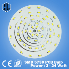 free shipping 1pce 3W 5W 7W 9W 12W 15W 18W  24W SMD5730 brightness light board LED Lamp panel for ceiling light and light bulbs