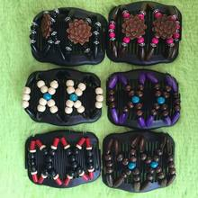 Vintage Magic Butterfly Wood Beads Stretchy Hair Clip Slide Updo Hair Comb New Double Clips Hair Slide Combs Hair Accessories(China)
