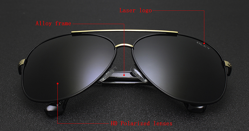 OLEY Luxury sunglasses men polarized Classic pilot Sun glasses fishing Accessories driving goggles gafas de sol zonnebril mannen 1