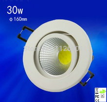 2015 Ceiling Lights Spot Led 1pcs/lot 30w,cob Led Down Light ,epistar Chip,,advantage Product,high Quality Light.3years Warranty(China)