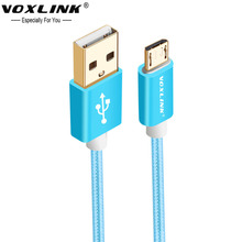 VOXLINK Gold-plated Micro USB cable 0.5m 1m 2m Fast Data Charging Cable For Samsung LG HTC SONY Android Mobile Phone
