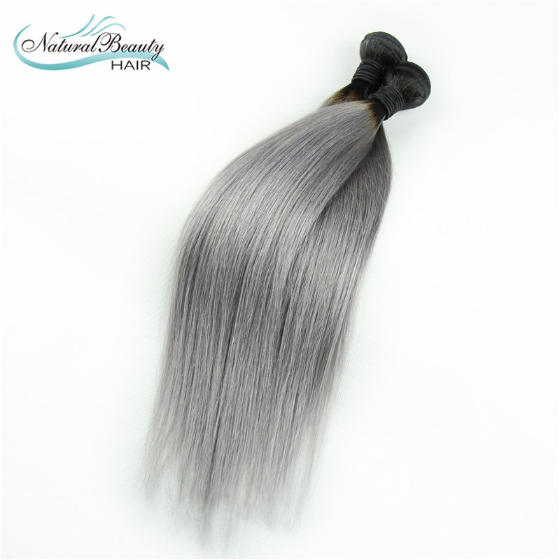 Hair Extensions Ombre Grey Hair Color Two Tone Human Weave Hair Platinum 1b Grey Virgin Brazilian Straight Hair 2pc on sale<br><br>Aliexpress