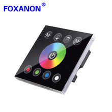 Foxanon LED RGBW Touch Panel Full Color Controller 86 Wall Mounted DC12 - 24V 4A * 4CH For 5050 3528 3014 Lamp RGB Strip Light(China)