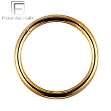 Gold Color No Piercing Nose Rings Faux nose ring G23 titanium Fake Nose Jewelry 8mm/10mm Choose