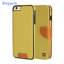 xnyocn For iPhone 6 Case Wallet Card 2-in-1 Leather twill fabric Flip Soft Cover Cell Phone Cases For Apple iPhone 6 6S plus