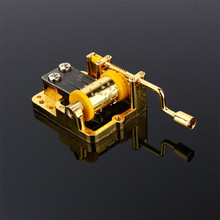 1Pc Unique 18 Notes DIY Mechanical Musical Box Golden Movement+Screws Music Boxes Set 5 Songs For Choice