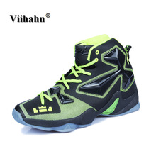 Viihahn Men's Basketball Sneakers Professional Cushioning High Top Basketball Boots Indoor Training Sports Red Shoes For Men Boy
