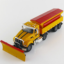 1/50 Scale Snow Shovel Model Snow clearer Truck Alloy modelAlloy Car Metal Vehicle Collectible Models toys For Gift