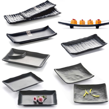 Japan and South Korea style black melamine Sushi Platter thickened buffet restaurant hall, Hot pot restaurant tableware 24 style