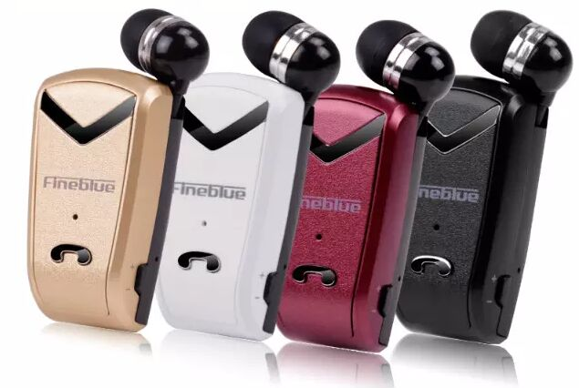 Original brand mini Wireless stereo clip Bluetooth headset retractable bluetooth Headphone earphone For iPhone Samsung all phone<br><br>Aliexpress