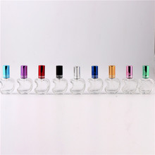 Beauty 9 Colors Stylish 12ml Unique Mini Glass Perfume Bottles With Spray Lovely Apple Style Refillable Parfum Bottles Atomizer