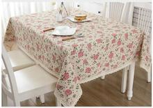 Free shipping  Home Textile Cotton Tablecloth Rectangular Table cloth Round Square Garden Table cover Natural Tablecloths