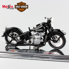 1:18 Scale Mini kids Harley 1948 FL PANHEAD Diecast model motorcycle toys motorbike auto cars vintage style for child black 2017