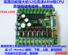 PLC industrial control panel board microcontroller programmable controller solenoid contactor drive FX1N-14MT