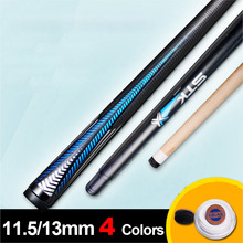 Brand Billiard Pool Cues Stick 11.5mm/13mm Tip 4 Colors Tip As Gift China 2017(China)