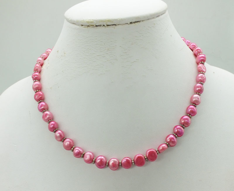 8-9mm Pearl Necklace 16""