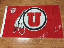 University of Utah Utes NCAA Flag 3X5FT hot sell products Flag 150x90 CM brass metal holes