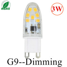 2016 New Dimming G9 led corn lamp AC220V 3W  2835LED Crystal Silicone Candle Replace 20W halogen lamps Christmas light  bulb