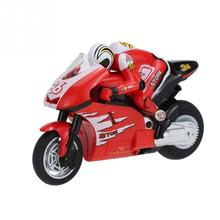 Create Toys 8012 1/20 2.4 GHz Radio Controlled mini RC Motorcycle Super Cool Toy Stunt Car For Children Gift Red / Green(China)