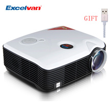 Excelvan PH5 Projector 1080 Read Support HDMI/ATV/AV/VGA/ USB/Audio input Home Theater TV Proyector/Beamer For DVD PC Tablet