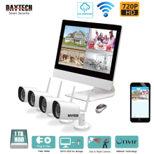 DAYTECH 4CH Wireless Surveillance System Wireless LCD NVR Camera Kit 720P Wireless Outdoor Bullet IP Camera System Night Vision(China)