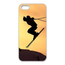 NEW Skiing Special White Hard Plastic Phone Case Cover for iPhone 4 4s 5 5s 5c 6 6s 6plus 6splus 7 7plus