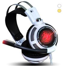 Fashion LED Light Gaming Headset USB Headphone Bass Vibration Computer Headset With Micro For Competitive Game LOL CF Earphone