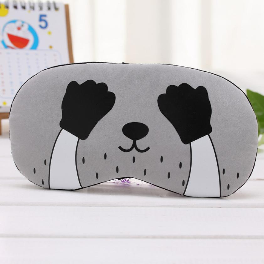 1PC Women Girls Flannelette Sleep Mask Rest Travel Relax Sleeping Aid Blindfold Ice Cover Eye Patch Sleeping Mask Case AU8