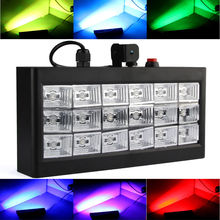 AOBO Lighting Sound Auto Speed adjustable Led Stage DJ Lights 18pcs RGB Strobe Ball Disco Flash Light Club Party Stage Effects