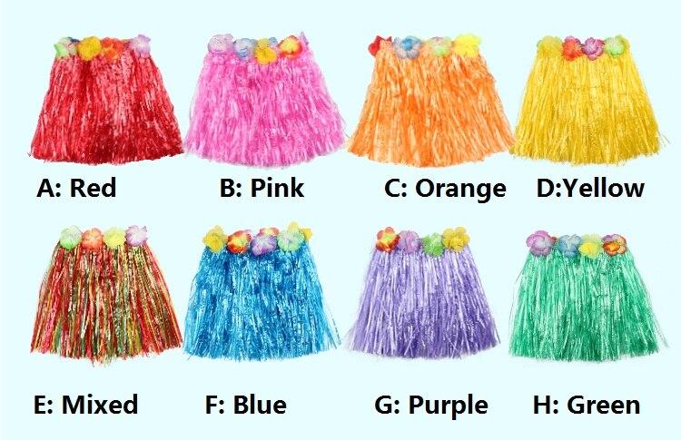 Color of hula skirt