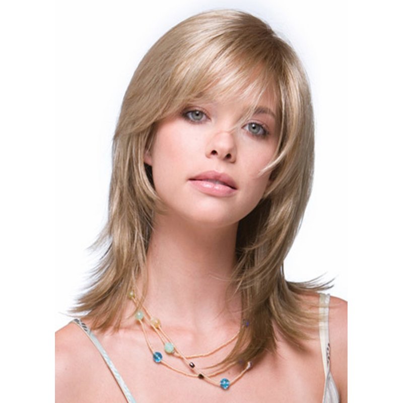 2017  Bob Straight Blonde Wig for women Peluca Peruca Sexy Synthetic hair wigs Full wig with Side bangs Free shipping<br><br>Aliexpress
