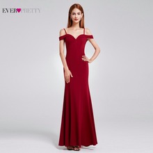 Prom Dresses Sexy V-neck Women's Elegant Off-the-shoulder Sleeveless Long Prom Party Dresses Ever Pretty EP07017 2017(China)
