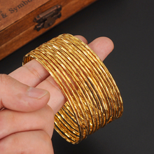 5 PCS dubai gold bangle  2.6 inchesEthiopian bangle bracelet bangle African Women jewelry Gold Dubai big circle bangles bracelet