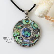 patchwork round moon rainbow abalone oyster shell rhinestone necklaces pendants 2013 cheap handmade jewelry
