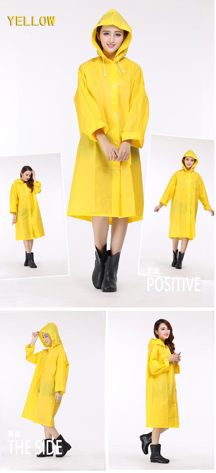 Women Transparent Portable Long Raincoats 16