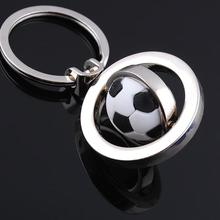 new rotation football keychain fashion sport soccer ball key chains boy bag pendant trinket items factory wholesale price(China)